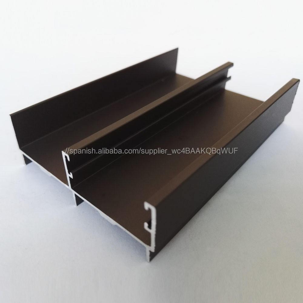 perfiles de aluminio anodizado arenado de bronce ligero para puertas de ventanas materiales de construcción perfiles de aluminio
