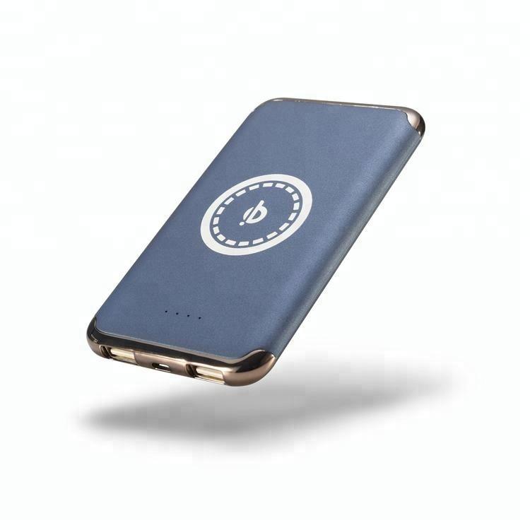 Gros qi sans fil mobile power banque 4000 mah mobile chargeur avec une grande efficacité