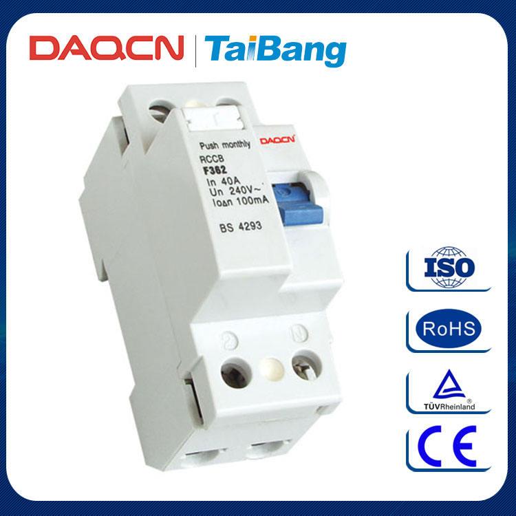DAQCN 2016 Neue Art IEC F360 Einstellbare Fehlerstromschutzschalter