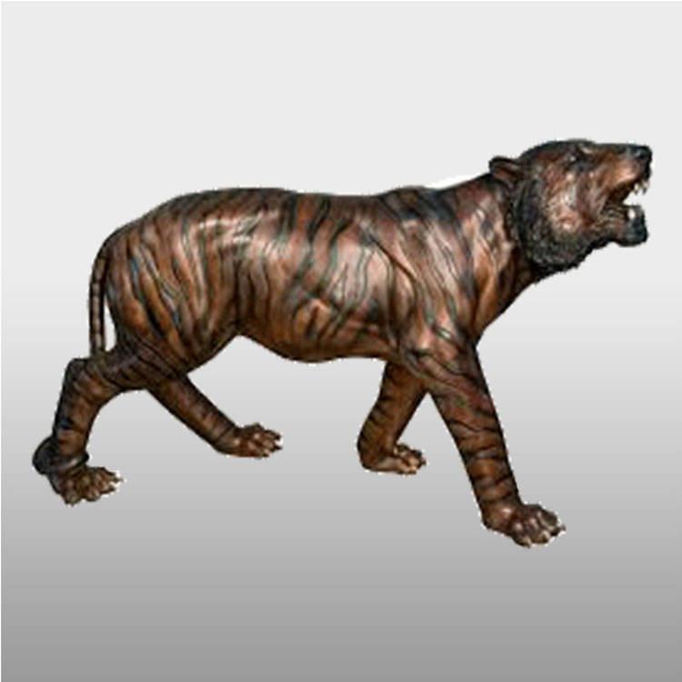 Jardín al aire libre de <span class=keywords><strong>latón</strong></span> de <span class=keywords><strong>bronce</strong></span> antiguo tigre estatua