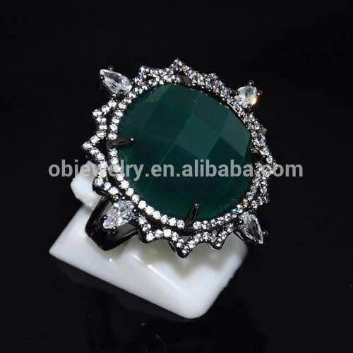 ródio negro verde natural pedra de ágata <span class=keywords><strong>jóias</strong></span>