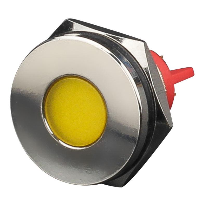 6mm 8mm 10mm 12mm 16mm 18mm 20mm 22mm IP67 impermeable metal lámpara de señal montaje en panel piloto indicador led de luz