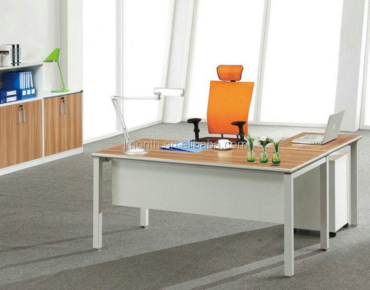 Productos de bajo precio de China mdf escritorio de oficina moderno mis órdenes con alibaba