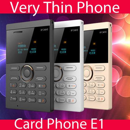 Nueva E1 pequeño FM MP3 vibración mini tarjeta ultrafina teléfonos celulares <span class=keywords><strong>ruso</strong></span>, alemán, francés, italiano, turco, árabe