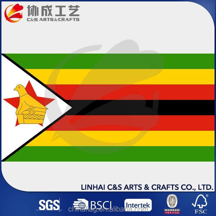 Четырех Цветная Печать Зимбабве Национальный Флаг