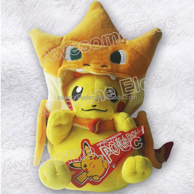 Caliente de la manera Amarillo pokemon pikachu de la felpa de Algodón PP muñeca inflable