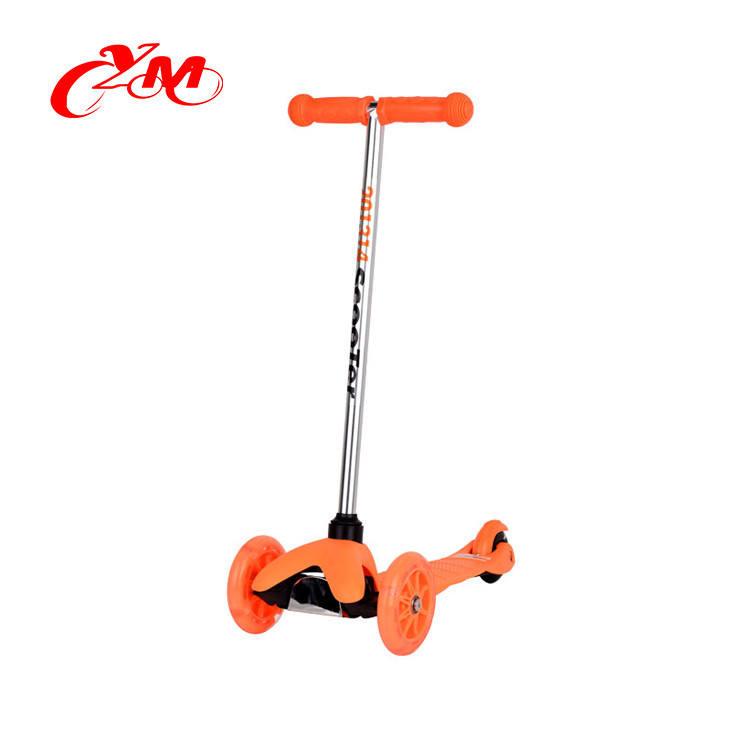 12 pulgadas neumático pu kick scooter/CE aprobó scooter del empuje con freno