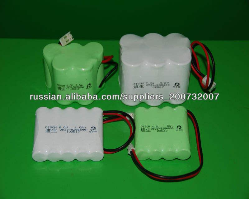 высокая температура 3.6V 4.8V 6.0V Ni-MH аккумуляторов Ni-Cd аккумулятор для аварийного освещения