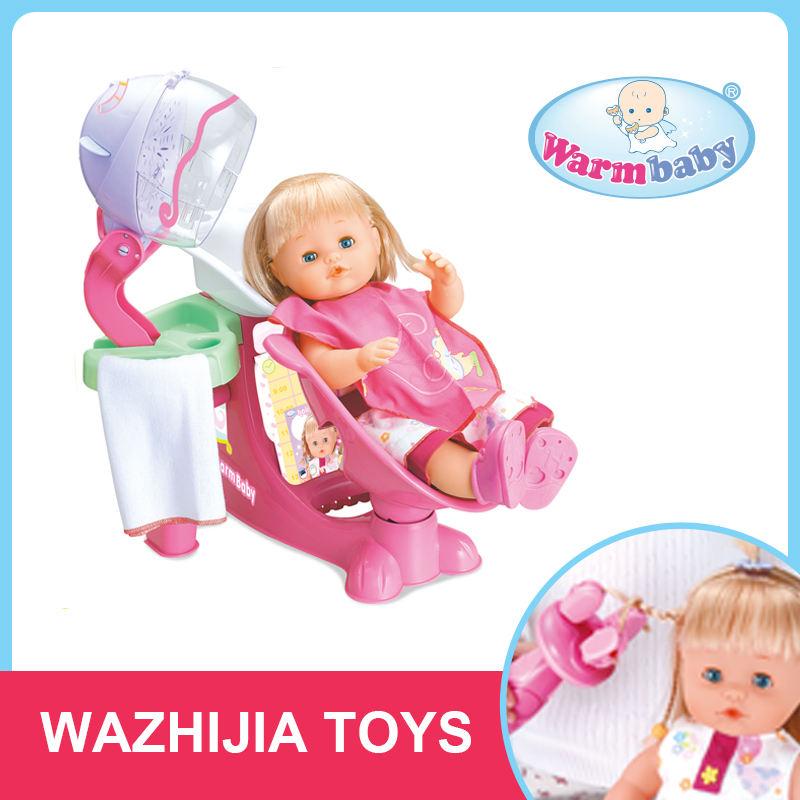Engraçado jogos de menina do cabelo beleza jogar orientais bonecas de brinquedo macio com B/O shampoo cadeira