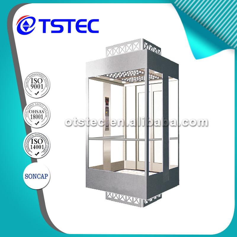 4 sides glass tham quan hoàn chỉnh <span class=keywords><strong>thang</strong></span> <span class=keywords><strong>máy</strong></span> từ OTSTEC