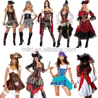 Halloween Cosplay Piratas del Caribe traje para las mujeres