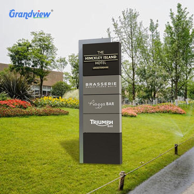 Libre de pie personalizado publicidad exterior señalización de negocios direccional pilón orientación Pilar señal