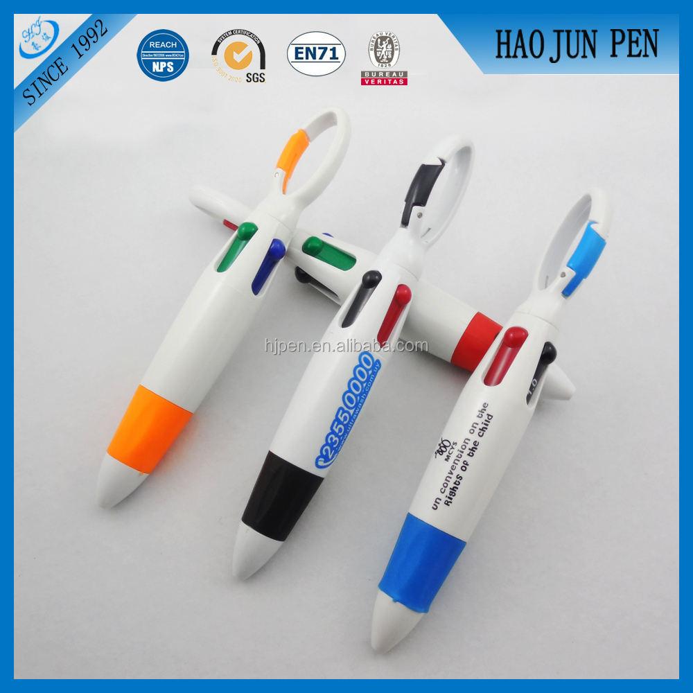 2015 kanca tarzı çok 4 renkli plastik tükenmez kalem promosyon hediye için kalem çin yapılan