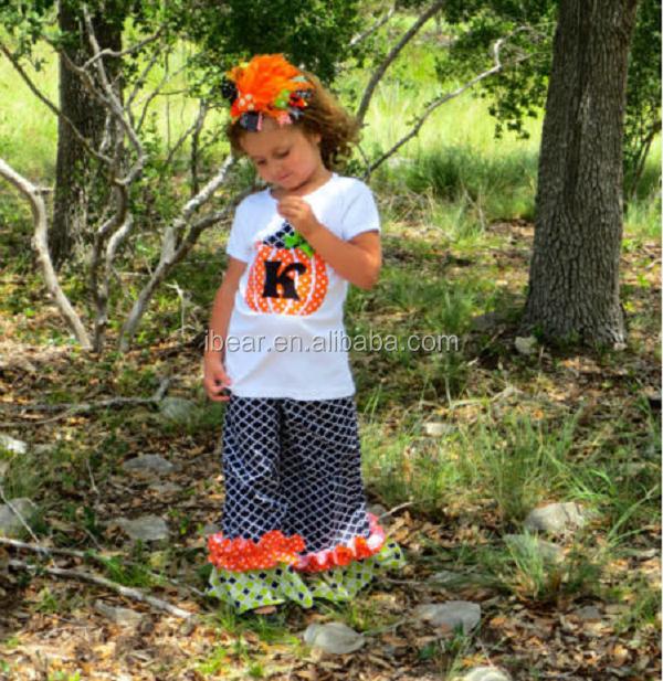Новое Прибытие Весна Лето Одежда Американские Девушки 2 Шт. Наряды Оптовая детские Бутик Одежда