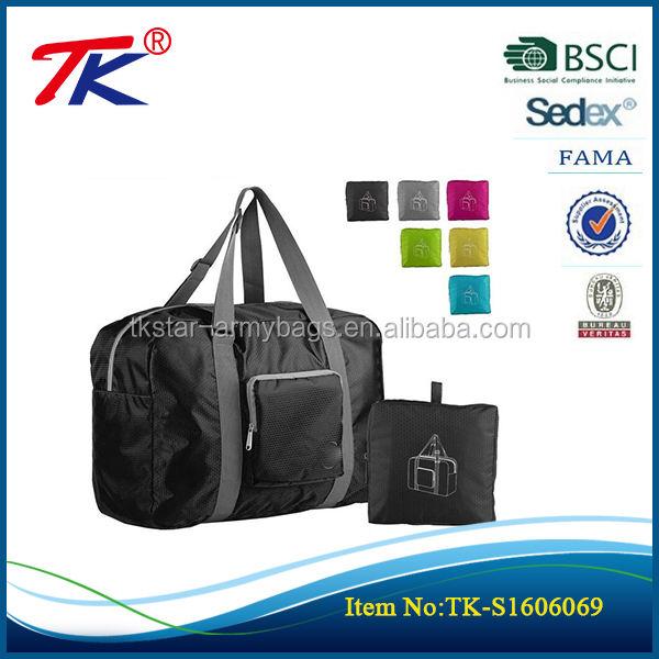 Katlanabilir seyahat duffel çanta bagaj spor salonu su geçirmez erkek küçük seyahat çantası