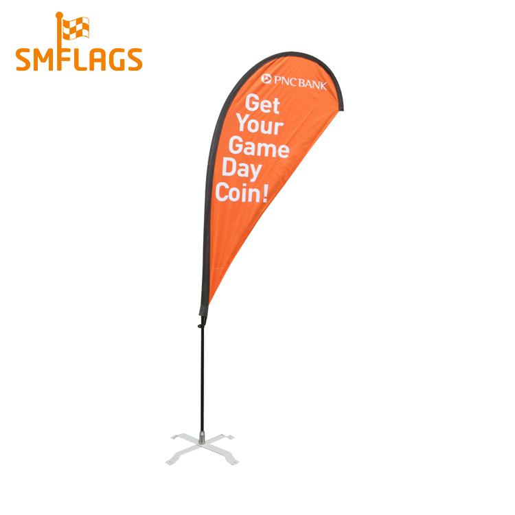 Professionnel personnalisé taille léger polyester larme étanche plage drapeau bannière avec pôle