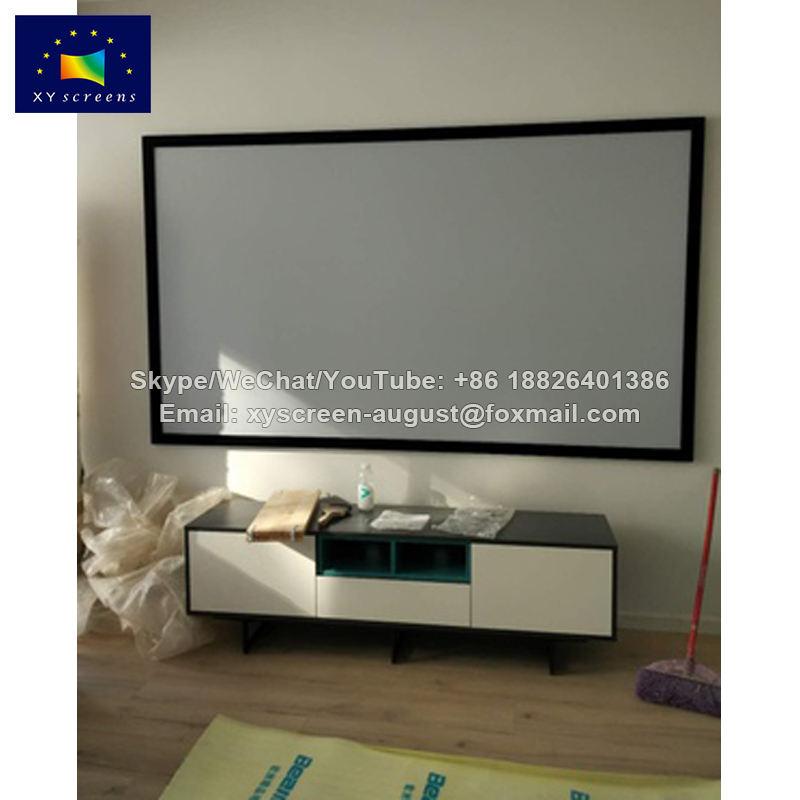 XYSCREEN 133 pouce foncé gris écran de projection d'image fixe, prix de projecteur écran