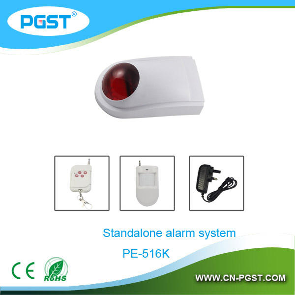 PE-516 Беспроводной сигнализации sirene 220 В с стробоскопа для системы охранной сигнализации, CE RoHS