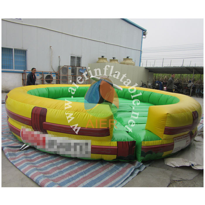 AIER rodeio touro <span class=keywords><strong>mecânico</strong></span> inflável jogos de desporto para crianças/adultos