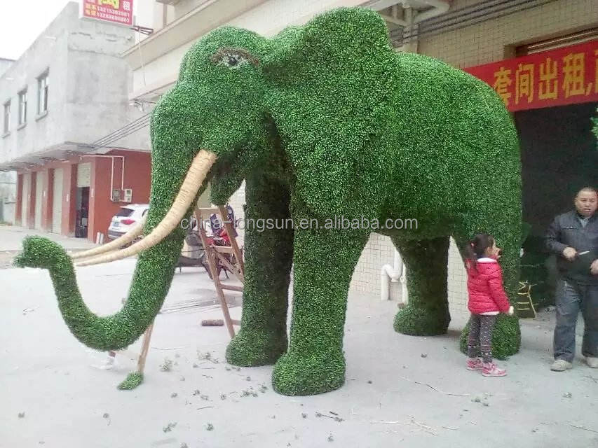 WS16040112 fabricante atacado fábrica custom barato jardim decorativa plástica <span class=keywords><strong>artificial</strong></span> animal elefante