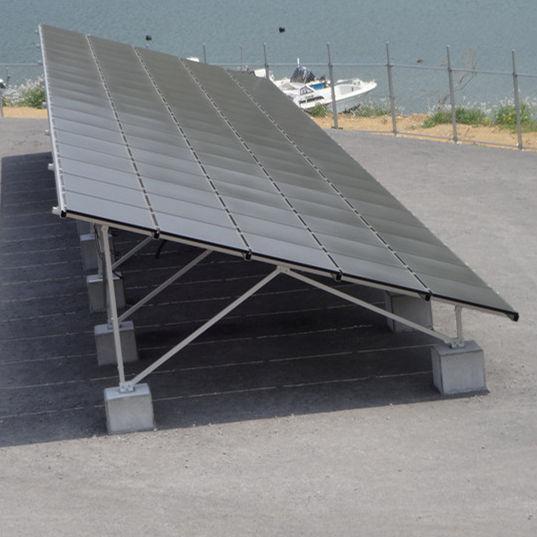 Плоская крыша <span class=keywords><strong>земли</strong></span> Алюминиевый Солнечный монтаж наземное крепление Солнечная рамка зеленые энергетические решения
