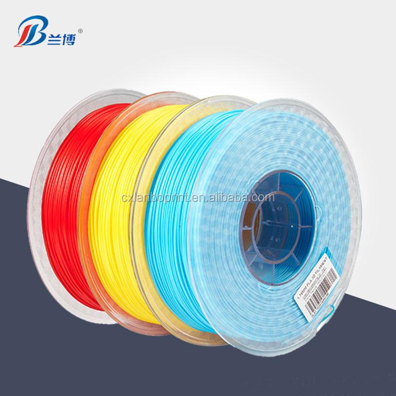LANBO Factory direct 3d refill filament 1,75/3,0mm 1 kg/rollen PLA 3d reflektieren filament