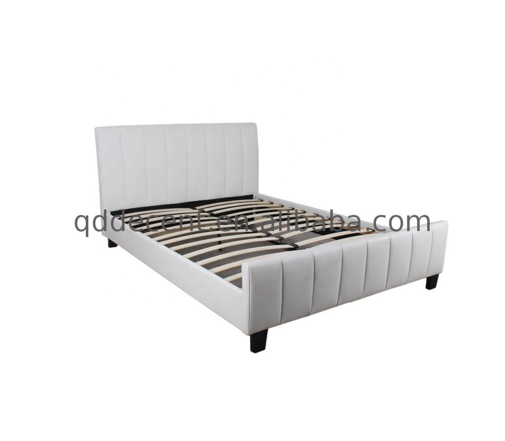 Nieuwe model wit faux lederen <span class=keywords><strong>bed</strong></span> woonkamer meubels