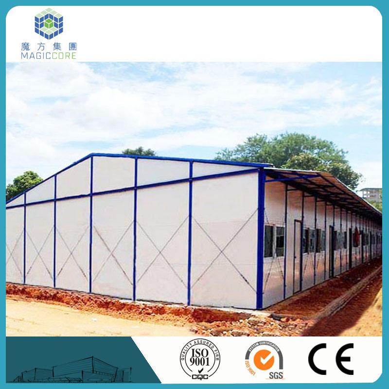 Estructura de acero ligero casa modular fácil <span class=keywords><strong>construir</strong></span> casas prefabricadas económica