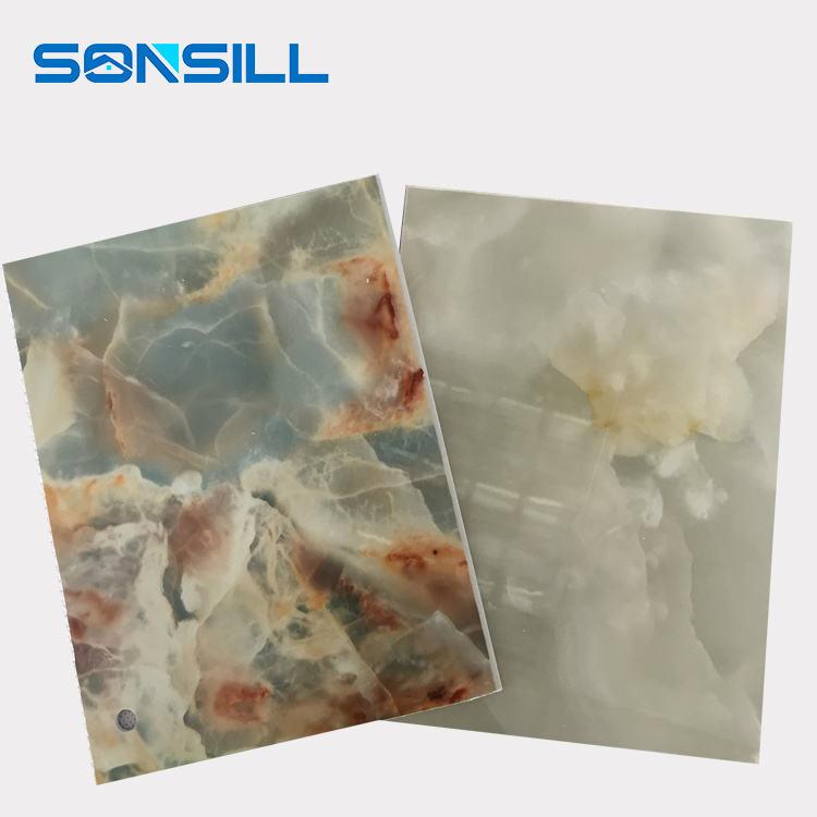 PVC Panneaux Muraux Décoratifs/UV Marbre Conseil/Blanc UV Plaque