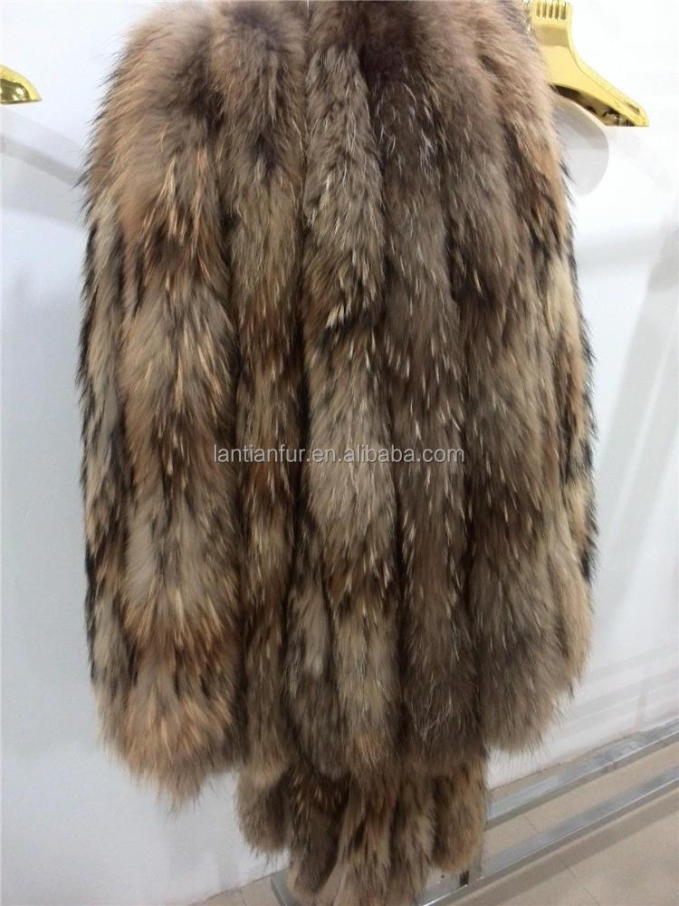 100% fatto a mano pelliccia di raccoon/colletto per cappa