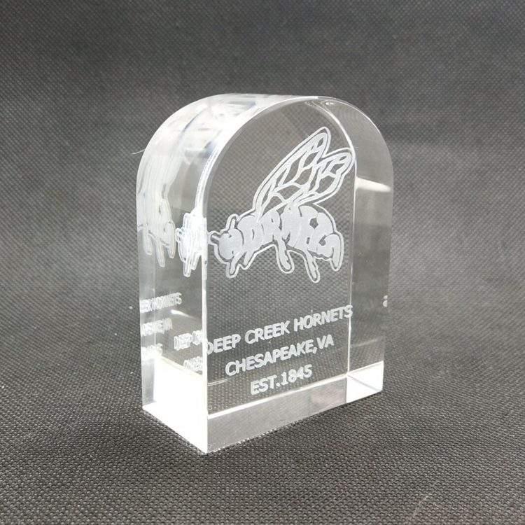 Puerta redonda forma cubo de cristal amor hermoso regalo 3d cristal láser regalo de boda