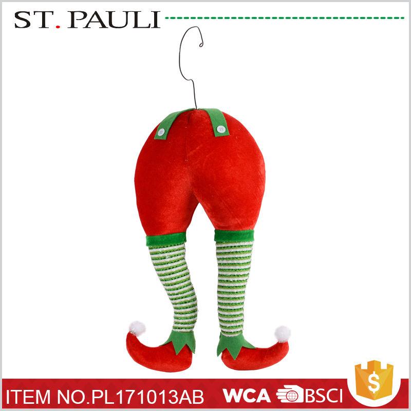 Горячая продажа рождественская елка украшения мягкий эльф куклы ноги оптовая пользовательские плюшевые игрушки для лучшей цене