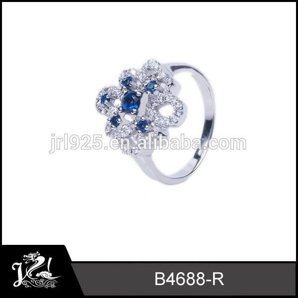 Mode sitte echter diamant saphir-ring von <span class=keywords><strong>jin</strong></span> <span class=keywords><strong>rui</strong></span> lange schmuck