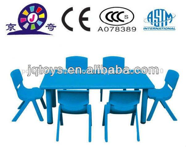 crianças de plástico barato mesa da escola e cadeira móveis de brinquedo