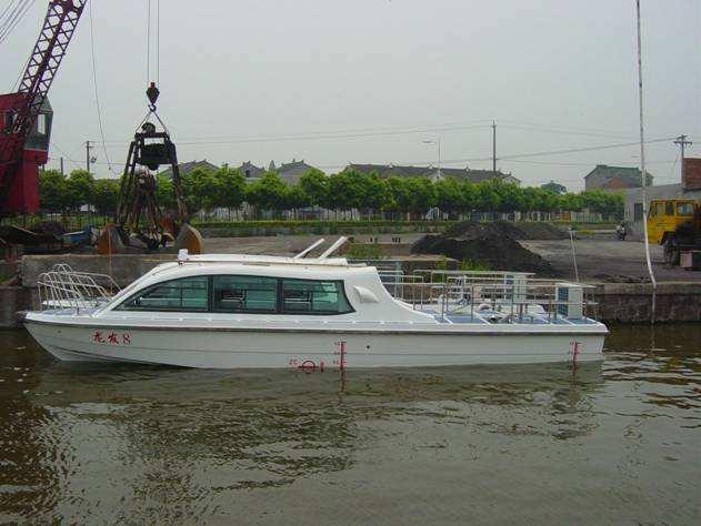 20 asientos De Fibra De Vidrio Motor Intraborda Diesel De Pasajeros Modelo Barco/Barco de la Tripulación/Ferry