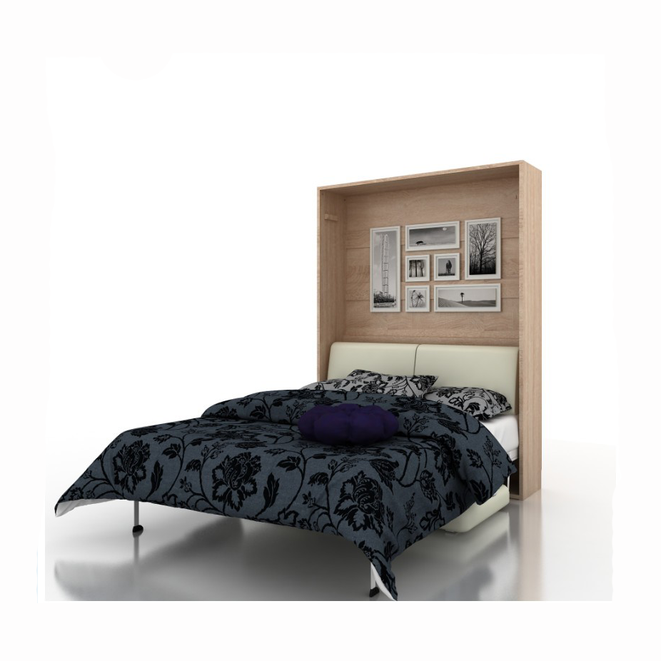 GORL QF154SF Spcae saving furniture wall folding bed with SOFA front open wall bed Functional murphy bed