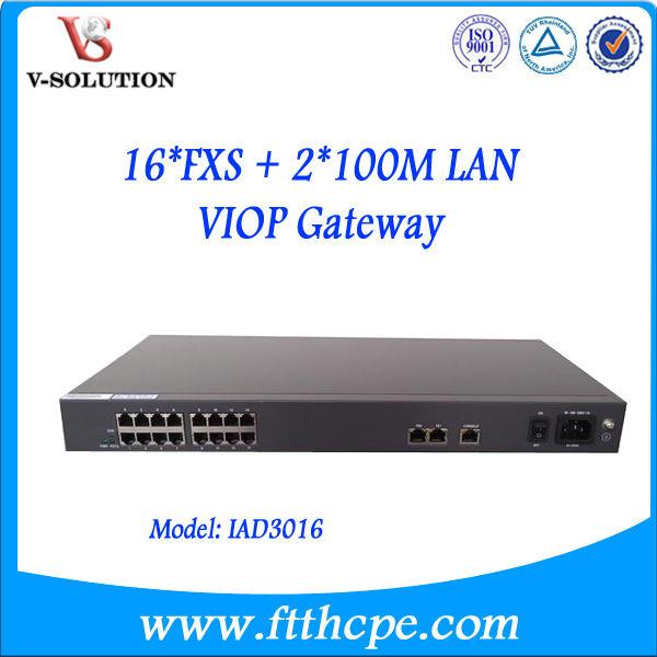 サージ保護電話アダプターiad301616fxo+fxsvoipのsipゲートウェイ