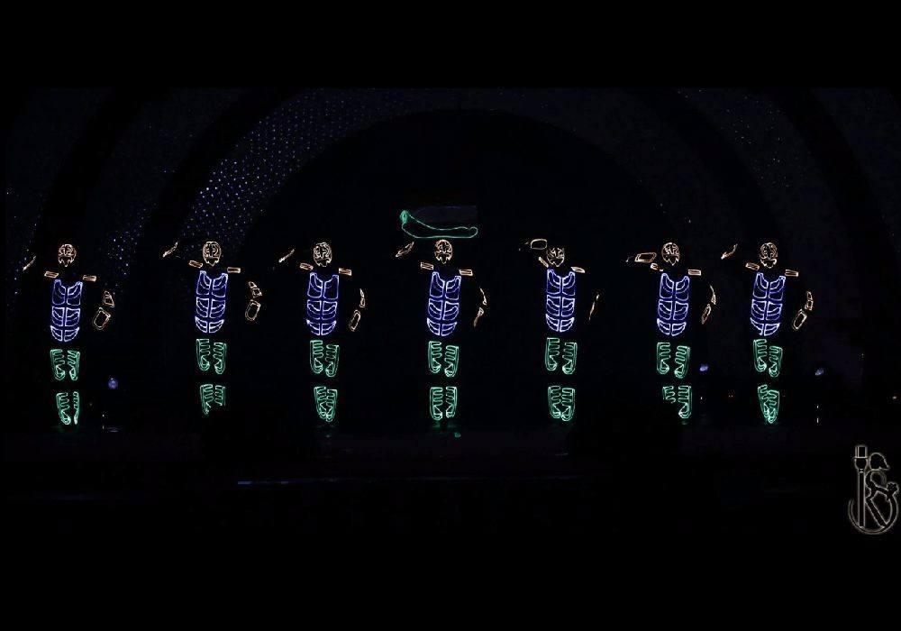 LED Costume, Tessuto in fibra Ottica, legare di EL Lighting up apparel