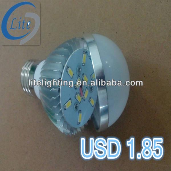 e27 b22 e14 b15 5730 smd led bombilla globo 5w 7w 9w del fabricante de china