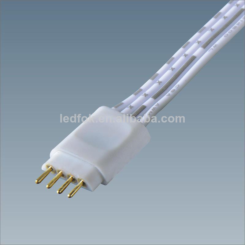 светодиодный rgb 5050 полосы кабельный разъем 10mm привело аксессуары штекер с ul кабель
