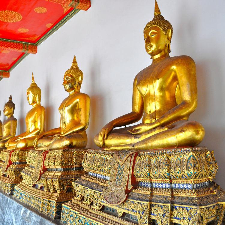 Embarcações de Bronze Fábrica Religião Vintage Metal Bronze Tailandês Buda Feminino Statuefor Venda