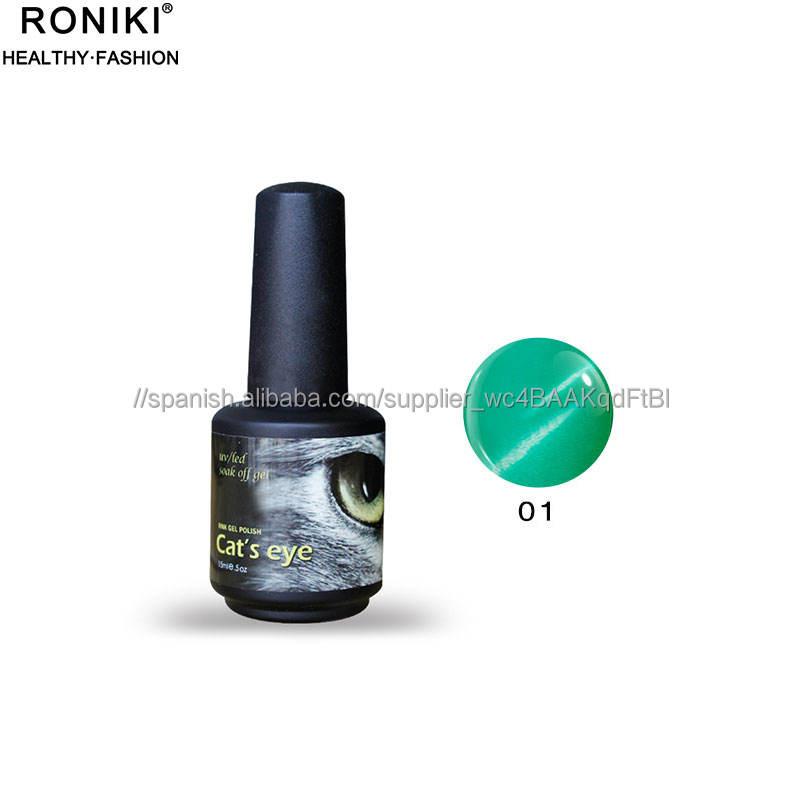 RONIKI UV gel polaco para unas gel de jade ojo de gato