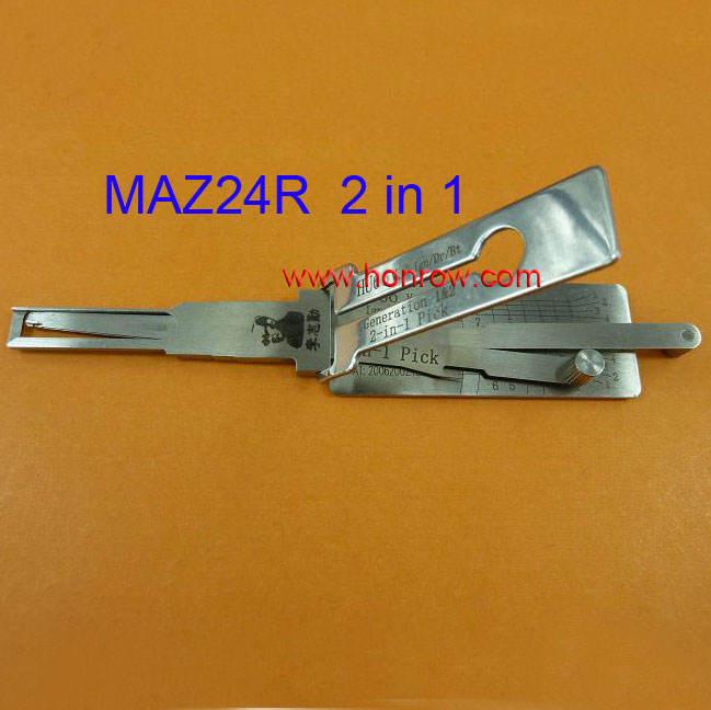 Высокое качество и Лучшая цена Лиши Mazda MAZ24R 2 в 1 выбор замка и сочетание декодер инструмент