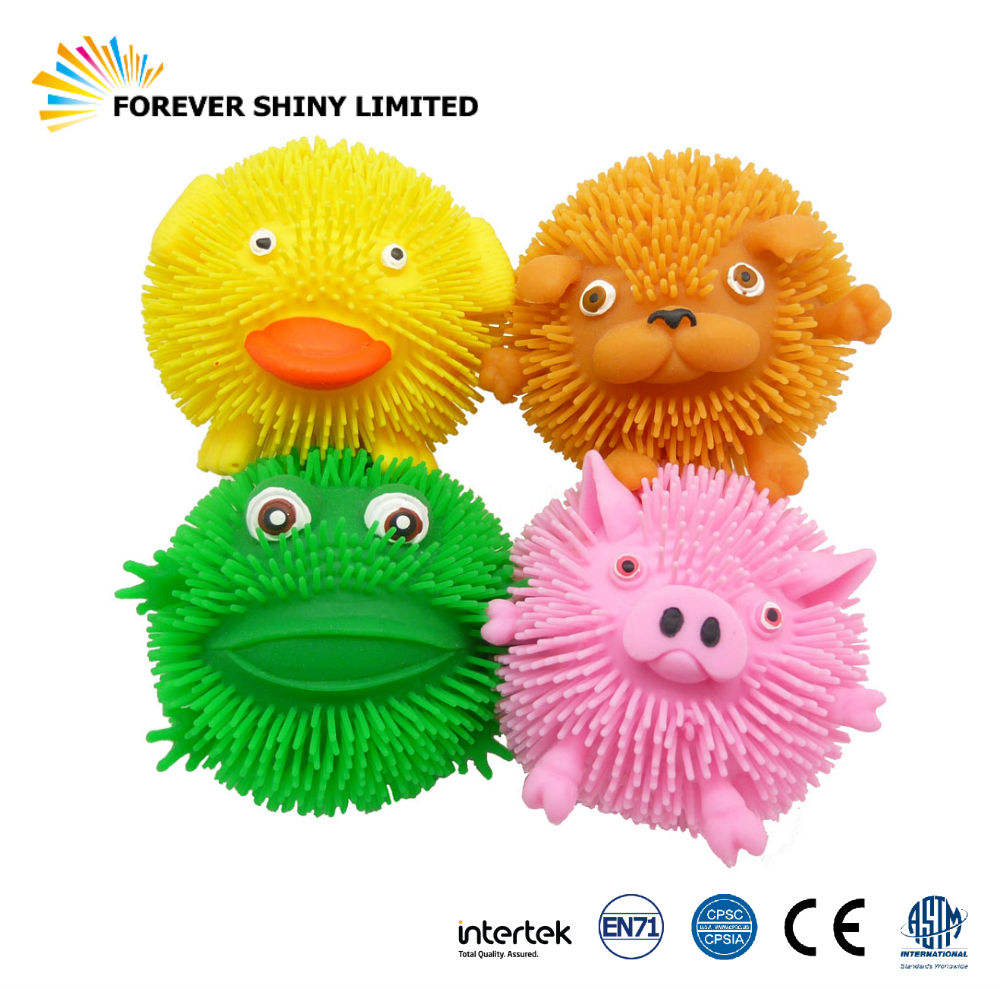 Novelty Jouets Gift Small Capsules Children Toys Plastic Soft TPR Cute Animal Splat Balls for Vending Machines