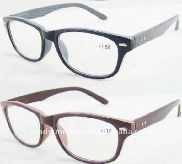 إطارات بلاستيكية مع نظارات القراءة نسخ القراءة وود (RP460029-1)