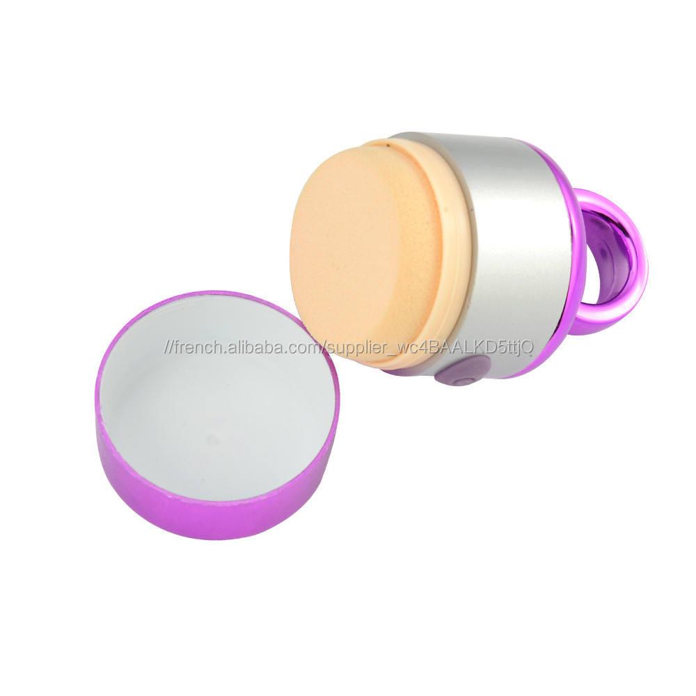 2017 propre et lavable cosmétique et maquillage silicone houppette