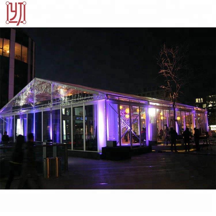 Yijin カスタムインド 1000 シータークリアルーフ結婚式パーティーテント装飾、マーキーテント結婚式パーティー