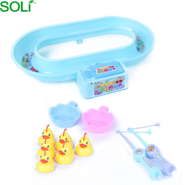Kids puzzle game children game fishing electric music water fishing duck kid toy