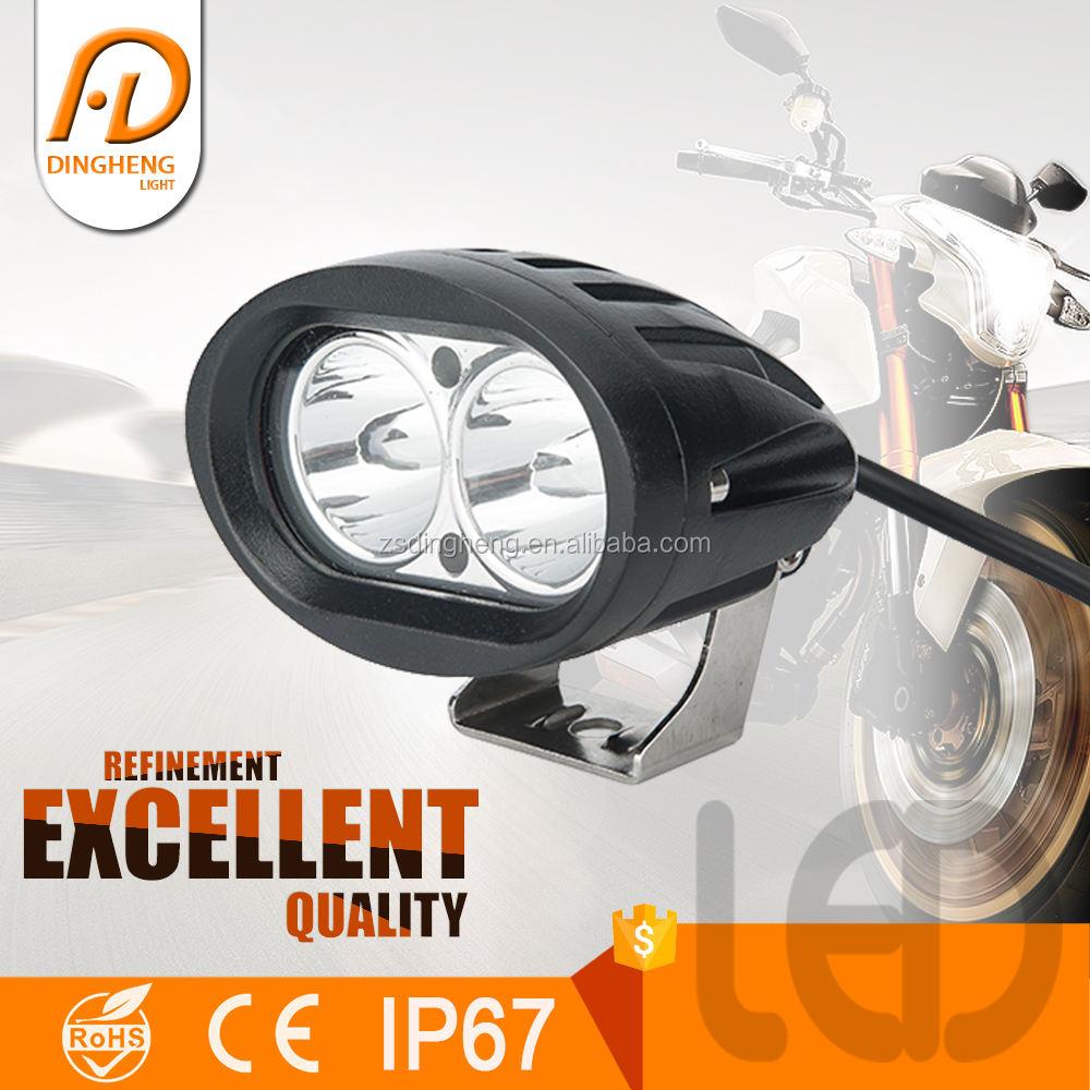 Base magnética projetor duplo olhos led motorcycle frente lâmpada de trabalho 18 w