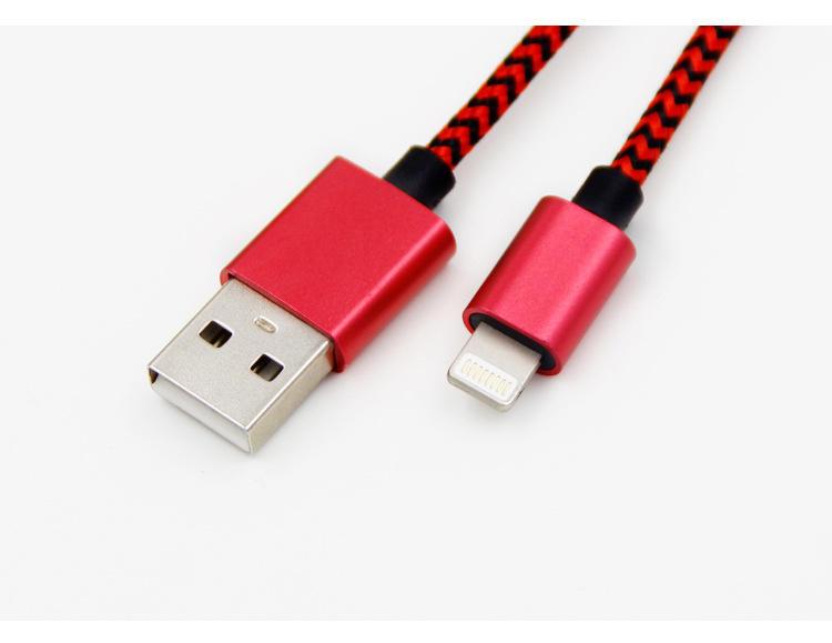 Venta caliente usb línea de cable de fibra óptica por cable de transferencia de datos para el iphone de apple 6 5 1 metros
